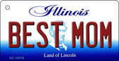 Best Mom Illinois State License Plate Key Chain KC-10318