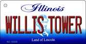 Willis Tower Illinois State License Plate Key Chain KC-10325
