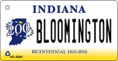 Bloomington Indiana State License Plate Novelty Key Chain KC-6381