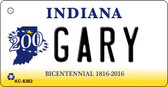 Gary Indiana State License Plate Novelty Key Chain KC-6382