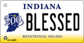 Blessed Indiana State License Plate Novelty Key Chain KC-6385