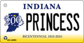 Princess Indiana State License Plate Novelty Key Chain KC-6393