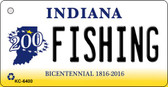 Fishing Indiana State License Plate Novelty Key Chain KC-6400