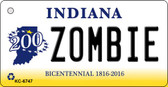 Zombie Indiana State License Plate Novelty Key Chain KC-6747