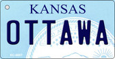 Ottawa Kansas State License Plate Novelty Key Chain KC-6607