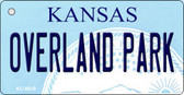 Overland Park Kansas State License Plate Novelty Key Chain KC-6610