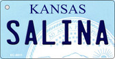 Salina Kansas State License Plate Novelty Key Chain KC-6611