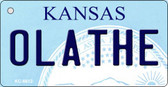 Olathe Kansas State License Plate Novelty Key Chain KC-6612