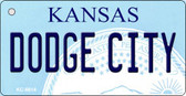 Dodge City Kansas State License Plate Novelty Key Chain KC-6614