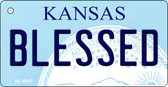 Blessed Kansas State License Plate Novelty Key Chain KC-6617