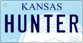 Hunter Kansas State License Plate Novelty Key Chain KC-6620