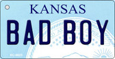Bad Boy Kansas State License Plate Novelty Key Chain KC-6623