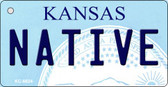 Native Kansas State License Plate Novelty Key Chain KC-6624