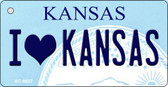 I Love Kansas State License Plate Novelty Key Chain KC-6627