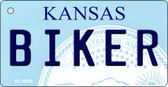 Biker Kansas State License Plate Novelty Key Chain KC-6638