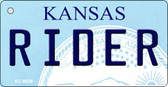 Rider Kansas State License Plate Novelty Key Chain KC-6639