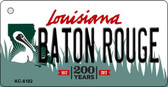 Baton Rouge Louisiana State License Plate Novelty Key Chain KC-6182
