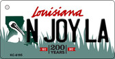 N Joy LA Louisiana State License Plate Novelty Key Chain KC-6195