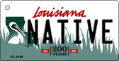 Native Louisiana State License Plate Novelty Key Chain KC-6198