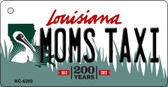 Moms Taxi Louisiana State License Plate Novelty Key Chain KC-6200