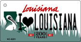 I Love Louisiana Louisiana State License Plate Novelty Key Chain KC-6201