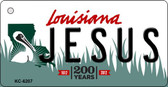 Jesus Louisiana State License Plate Novelty Key Chain KC-6207