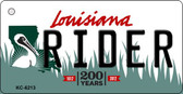 Rider Louisiana State License Plate Novelty Key Chain KC-6213