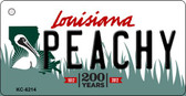 Peachy Louisiana State License Plate Novelty Key Chain KC-6214
