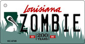 Zombie Louisiana State License Plate Novelty Key Chain KC-6749