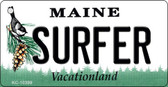 Surfer Maine State License Plate Key Chain KC-10399