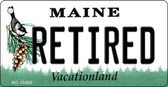 Retired Maine State License Plate Key Chain KC-10405