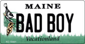 Bad Boy Maine State License Plate Key Chain