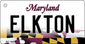 Elkton Maryland State License Plate Key Chain KC-10471