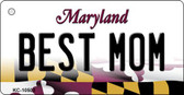 Best Mom Maryland State License Plate Key Chain KC-10503