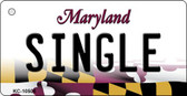 Single Maryland State License Plate Key Chain KC-10506