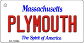 Plymouth Massachusetts State License Plate Key Chain KC-10984