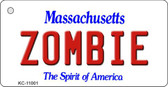 Zombie Massachusetts State License Plate Key Chain KC-11001