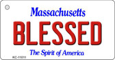 Blessed Massachusetts State License Plate Key Chain KC-11011