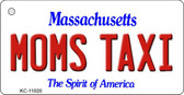Moms Taxi Massachusetts State License Plate Key Chain KC-11020