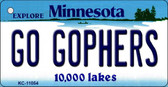 Go Gophers Minnesota State License Plate Novelty Key Chain KC-11054