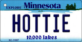 Hottie Minnesota State License Plate Novelty Key Chain KC-11057