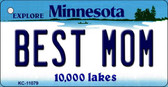 Best Mom Minnesota State License Plate Novelty Key Chain KC-11079
