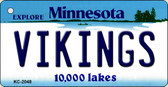 Vikings Minnesota State License Plate Key Chain KC-2048