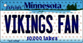 Vikings Fan Minnesota State License Plate Key Chain KC-10768