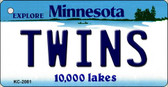 Twins Minnesota State License Plate Key Chain KC-2081