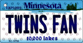 Twins Fan Minnesota State License Plate Key Chain KC-10795