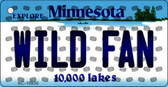 Wild Fan Minnesota State License Plate Key Chain KC-10835