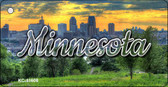 Minnesota City Skyline Sunset Key Chain KC-11608