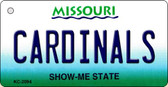 Cardinals Missouri State License Plate Key Chain KC-2094