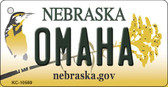 Omaha Nebraska State License Plate Novelty Key Chain KC-10569